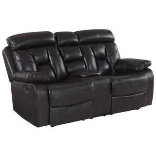 GU Industries Lockhart Leather Air Upholstered Living Room Console Loveseat