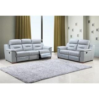 Walker Faux Leather Upholstered 2 Piece Living Room Sofa Set