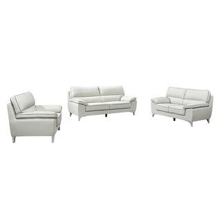 Azalea Leather Air Upholstered 2 Piece Living Room Sofa Set