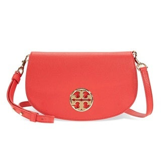 Tory Burch Jamie Cherry Apple Leather Clutch