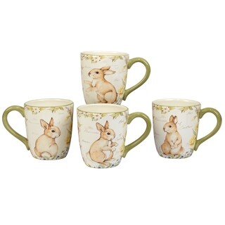 Certified International Bunny Patch 20-ounce Mug (Set of 4)