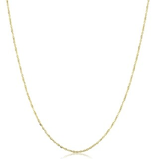 Fremada Italian 14k Yellow Gold Flat Rolo Chain Necklace