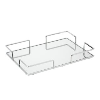 Modern Large Rectangular Vanity Mirror Tray