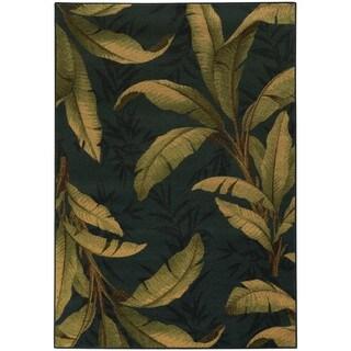 Tommy Bahama Villa Blue/ Green Polypropylene Tropical Area Rug (9'10 x 12'10) (As Is Item)