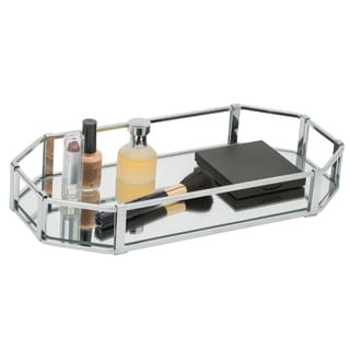 Octangular Chrome Vanity Mirror Tray