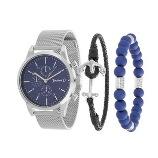 SILVER watch and braclet set