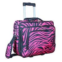 World Traveler Fuchsia Black Zebra Rolling 17-inch  Laptop Business Case