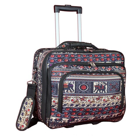 World Traveler Elephant Collection Rolling 17-inch Laptop Business Case
