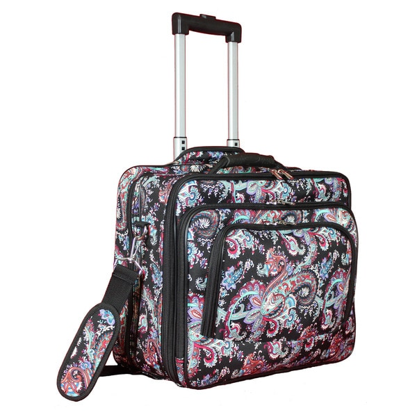 World Traveler Paisley Collection Rolling 17-inch Laptop Business Case. Opens flyout.