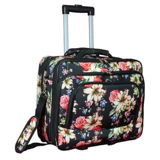 World Traveler Flower Bloom Collection Rolling 17-inch Laptop Business Case