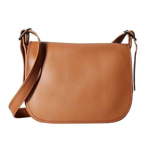 COACH Glovetanned Dark Antique Nickel/Saddle Leather Saddle Handbag