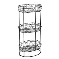 Geometric 3-tier Spa Tower with Mirror Shelves