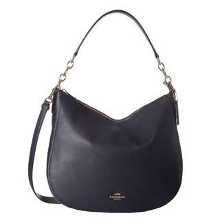 Coach Chelsea Navy Pebble Leather Hobo Handbag