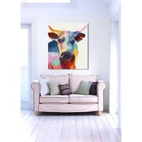 Oliver Gal 'Cow Wow' Canvas Art