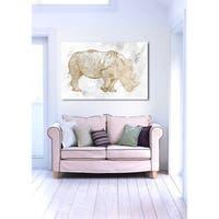 Oliver Gal 'Gold Rhino' Canvas Art