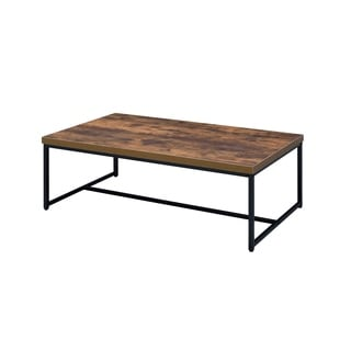 ACME Bob Coffee Table in Weathered Oak and Black