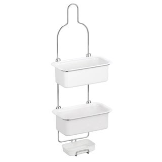 White 3-tier Shower Caddy with ABS Shelves