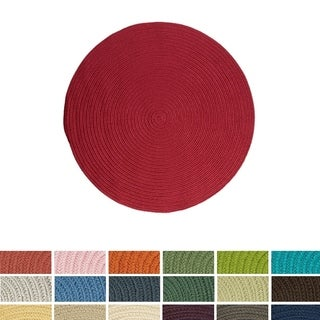 Colonial Mills Anywhere Round Reversible Indoor/Outdoor Braided Rug (5' Round)