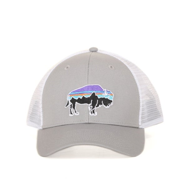 Shop Patagonia Fitz Roy Bison Trucker Hat - Ships To Canada ... 901234b7cbce