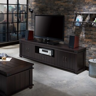 Furniture of America Teglar Espresso Finish Wood 82-inch TV Stand
