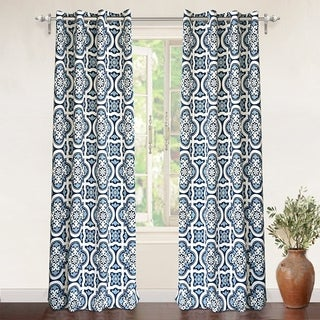 DriftAway Floral Trellis Room Darkening Window Curtain Panel Pair