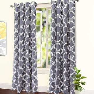 DriftAway Modern Geo-Liam Room Darkening Window Curtains, 2 Panels
