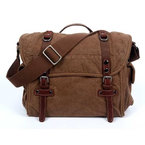 TSD Brand Silver Road Messenger Bag