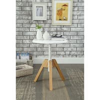 ACME Lumina End Table in Natural and White