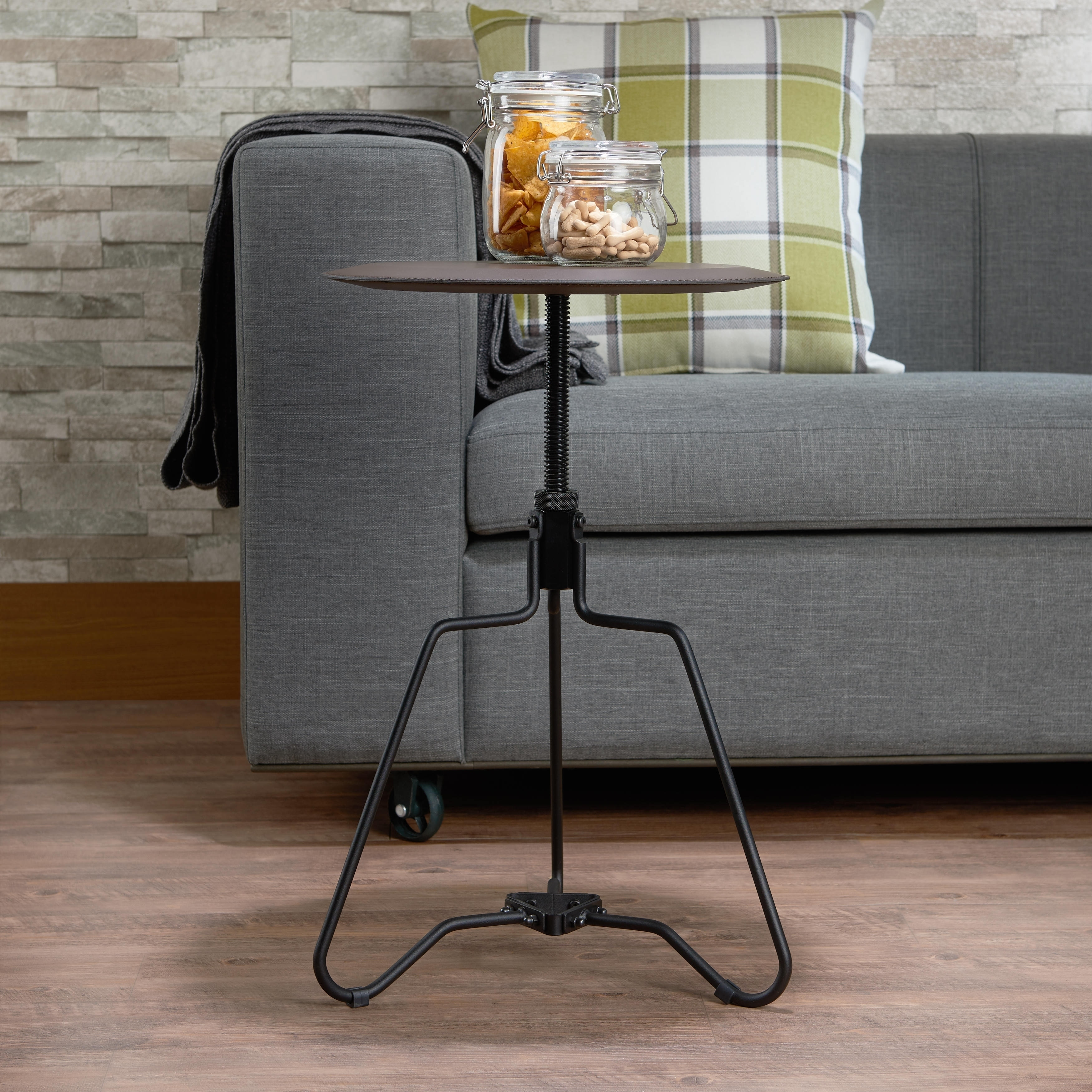 Picture of: Shop Black Friday Deals On Acme Sada End Table In Espresso With Adjustable Height Overstock 18909236