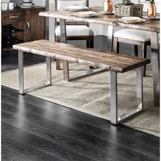 Carbon Loft Kelani Rustic Wooden Dining Bench
