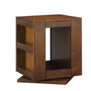 ACME Phoebe Swivel End Table in Espresso