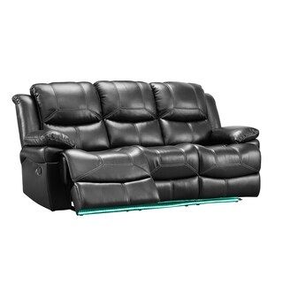 Silas Dual Recliner Sofa with Base Lighting (Manual/ Power) (2 options available)