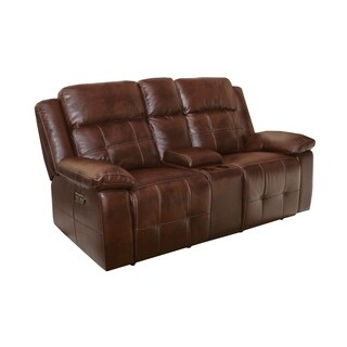 Conan Dual Power Recliner Loveseat with Storage Console