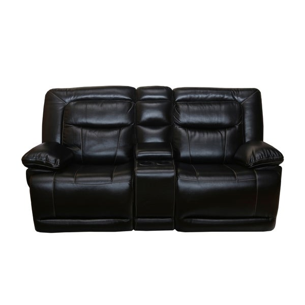 B751 Transitional Reclining Sectional With Storage Console: Shop Lucius Dual Recliner Loveseat With Storage Console