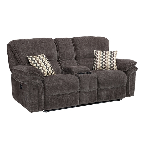 Maisie Dual Recliner Loveseat With Storage Console (Manual/ Power)