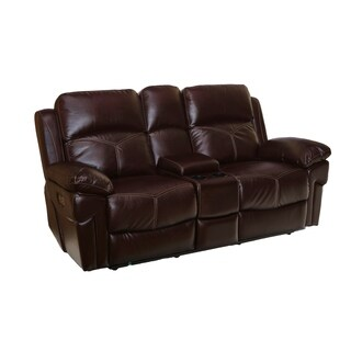 Margo Dual Power Recliner Loveseat with Storage Console