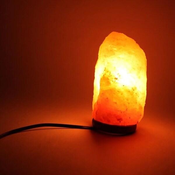 Crystal Wall Salt Light Natural Salt Rock Table Lamp Warm White