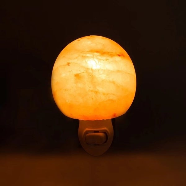 Natural Rock Salt Himalaya Salt Lamp Air Purifier Wood Base Amber
