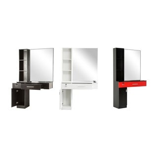 BarberPub Wall Mount Hair Styling Station with Mirror