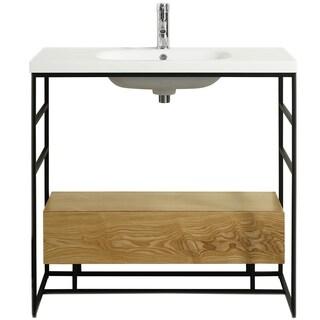 """Eviva Lodge 36"""" Teak Bathroom Vanity"""