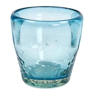 Blown Glass Juice Glasses, 'Delicious Blue' (Set Of 6) (Mexico)