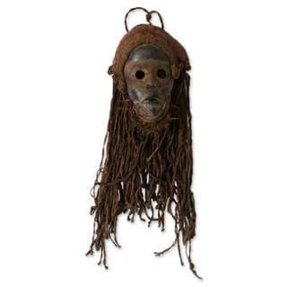 Ghanaian Wood Mask, 'Strong Protector' (Ghana)