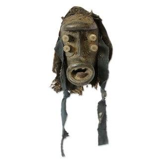 Handmade Spirit Of War Ivoirian Wood Mask (Ghana)
