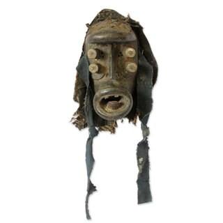 Ivoirian Wood Mask, 'Spirit Of War' (Ghana)