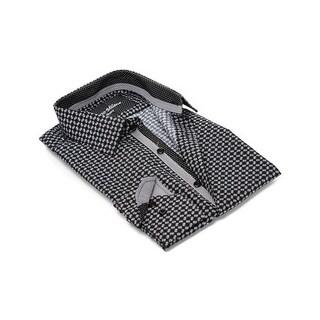 Checkerboard Men's Dress Shirt (Option: 5xl)