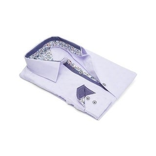 Contrasted Inner, Collar, and Cuffs Dress Shirt