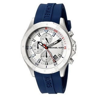 Michael Kors Men's MK8566 'Walsh' Chronograph Navy Silicone Watch