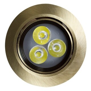 3.5-in. W Round Brass-LED Recessed Pot Light In Antique Brass Color