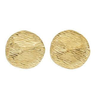 Line-Etched Disc Clip-On Earrings