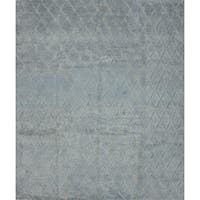 eCarpetGallery Hand-Knotted Mystique Blue  Wool Rug (8'2 x 9'9)